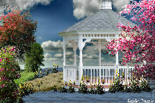 Garden design:Floating Gazebo