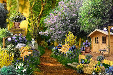 Garden design:Cabin in the Woods