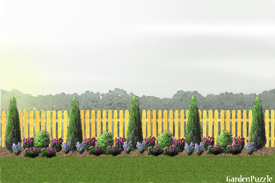 fence line gardenpuzzle online garden planning tool garden ideas along fence line