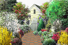Garden design:Tucked away