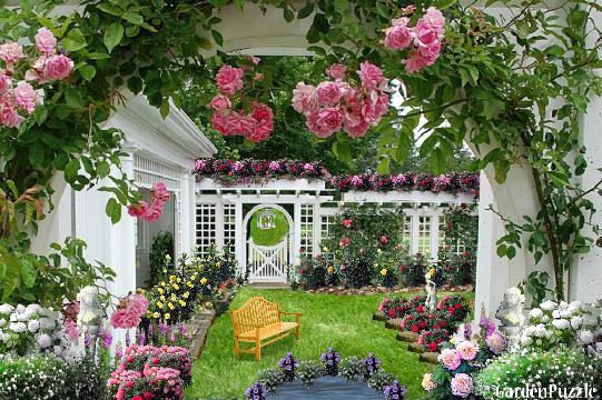 Just a Rose Garden GardenPuzzle online garden planning