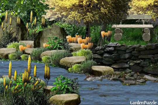 Garden design:place (my version) - Spring