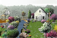 Garden design:my little house 
