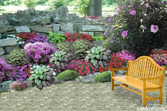 rock garden GardenPuzzle online garden planning tool