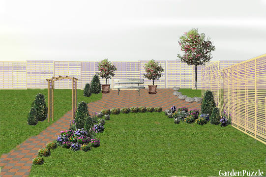 Garden design:still tweaking/a section not finished - Spring