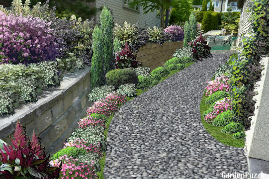 Garden design:breezeway (my version) - Spring