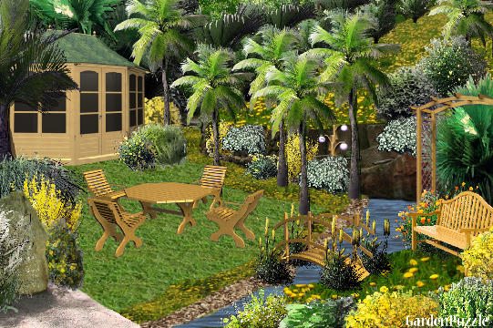 Garden design:Vacation - Spring