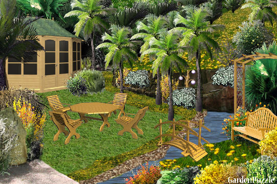 Garden design:Vacation - Autumn