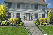 Garden design:Colonial style home