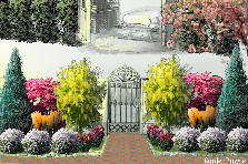 Garden design:garden gate