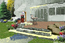 Garden design:patio