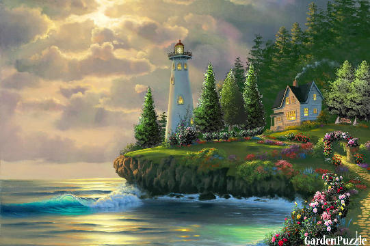 Garden design:Lighthouse - Spring