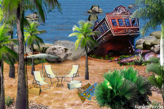 "Garden design:A day in the ""Pirates  Beach"" - Spring"
