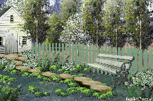 Garden design:back yard (my version)