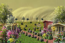 Garden design:the storm