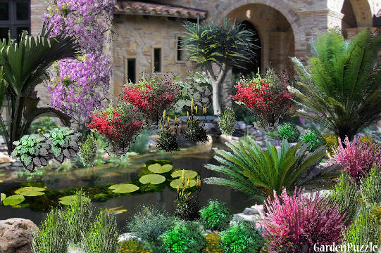 Hidden grotto gardenpuzzle online garden planning tool for Garden grotto designs