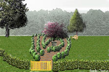 Garden design:secret garden - maze