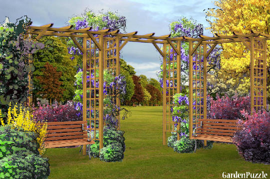 Garden design:park (my version) - Spring