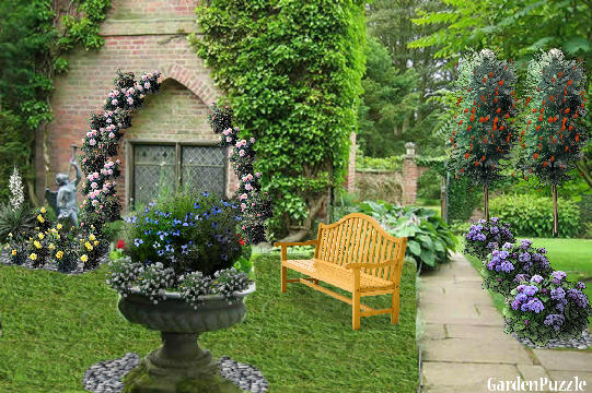 Garden design:Gothic Window - Summer