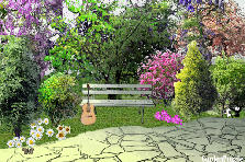 Garden design:Sit and play guitar