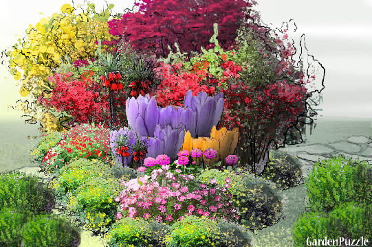 Garden design:bouquet of flowers! - Spring