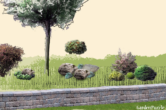 Garden design:left side bidon - Spring