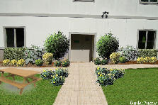 Garden design:BackEntry-Trinity