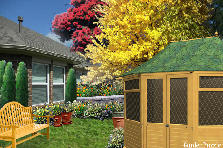 Garden design:outhouse