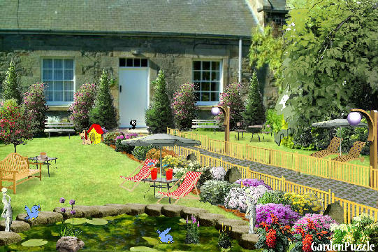Garden design:house with two gardens - Spring