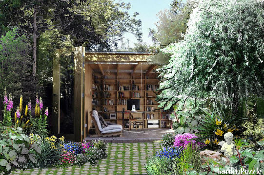 outdoor reading room - GardenPuzzle - online garden ...