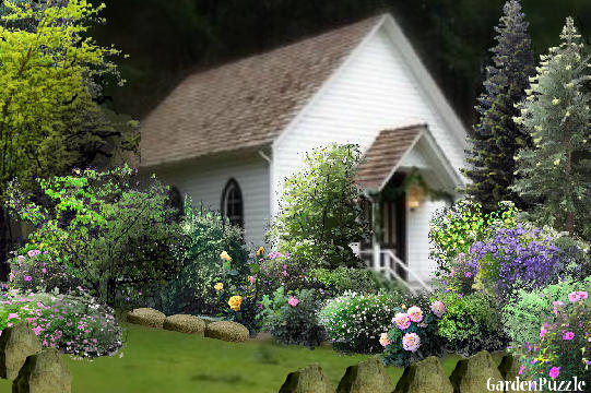 Garden design:Church Garden  - Summer
