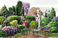 Garden design:colourful