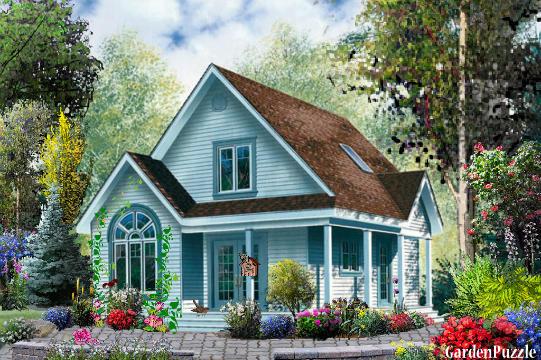 Blue House Garden Design : Little blue house gardenpuzzle garden planning tool
