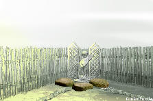 Garden design:Backyard Corner Fountain - Pond