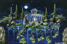 Garden design:Hidden Greek Ruins on a Mystic Island