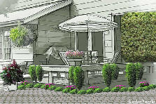 Garden design:simple terrace