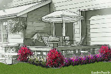 Garden design:new house