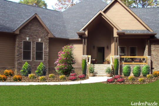 Planning A Garden In Front Of House : House front walk gardenpuzzle garden planning tool