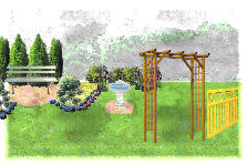 Garden design:Leigh Lane back