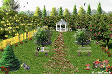 Garden design:orchard