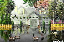 Garden design:Flood