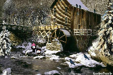 Garden design:Old mill in winter