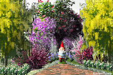 Garden design:peek a boo. welcome my frends