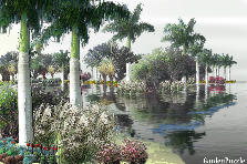 Garden design:a silent lagoon