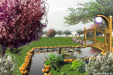Garden design:HELLO WORLD..
