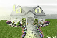 Garden design:Cottage house