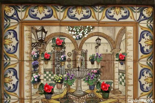 Garden design:mosaico malaga - Summer