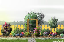Garden design:Backyard 1