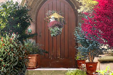 Garden design:Rustic Brown Door