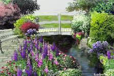 Garden design:Bridge